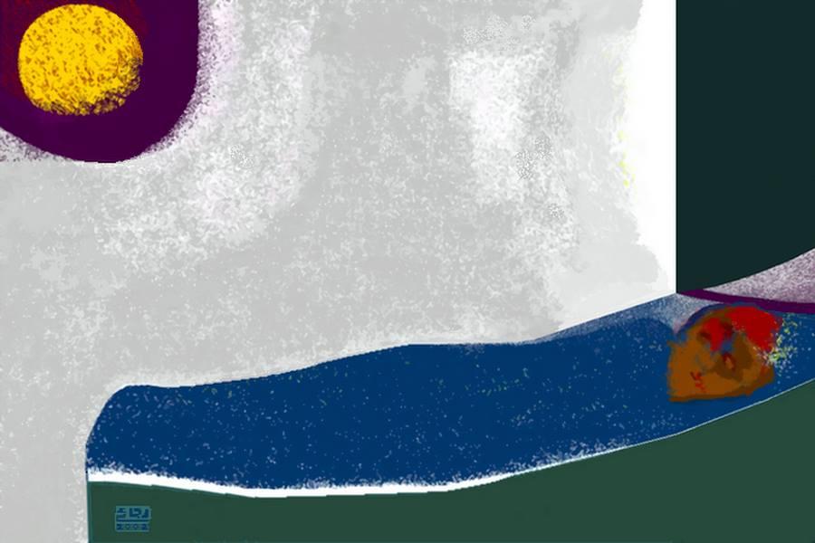 إنتظار .. جرافيك من أعمال رجائى الميرغنى 2001
