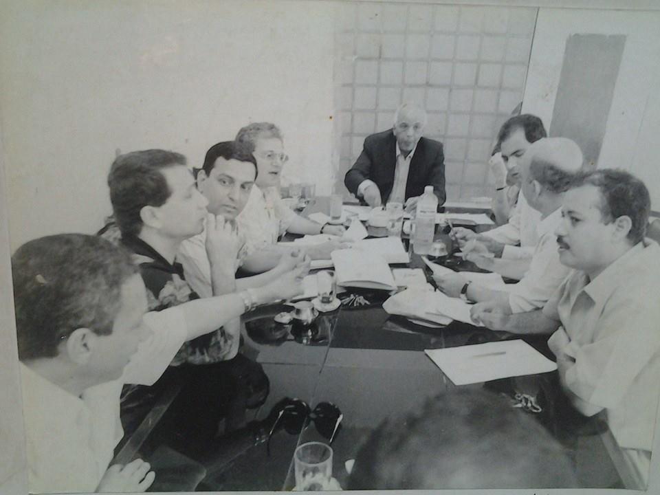 الميرغنى فى أحد إجتماعات مجلس نقابة الصحفيين