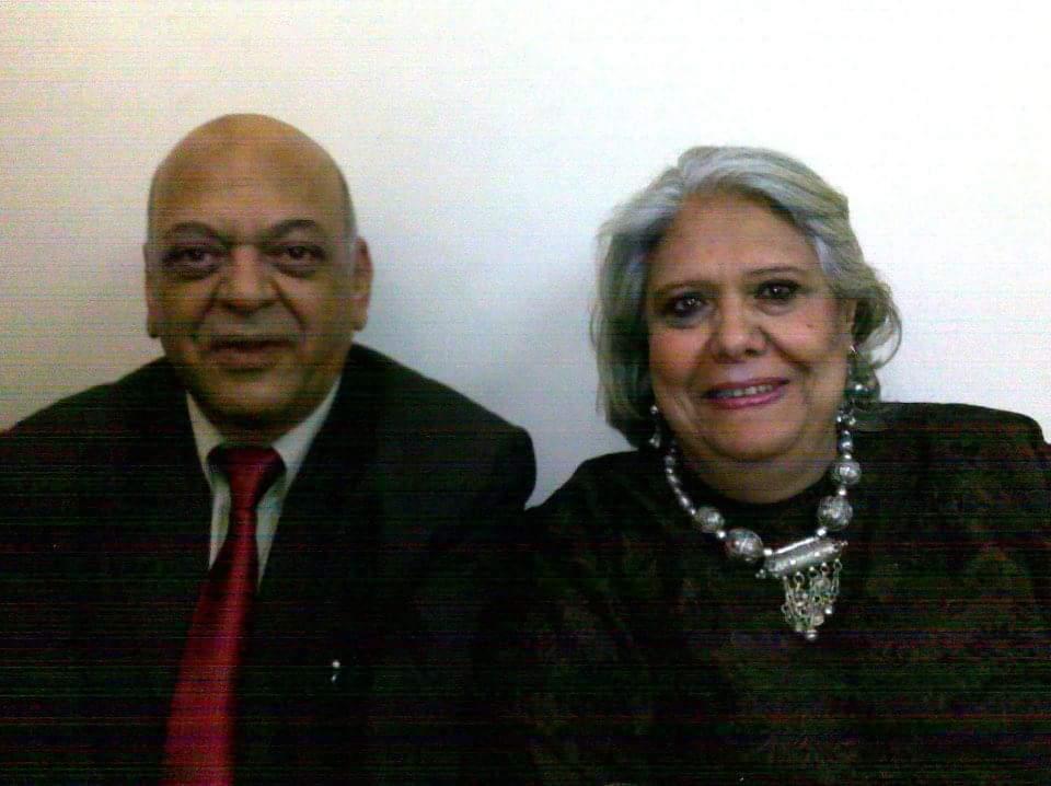 الميرغنى وزوجته الكاتبة الصحفية خيرية شعلان