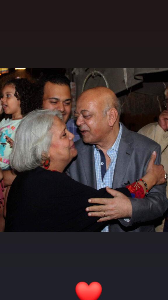 الميرغنى وزوجته خيرية شعلان (2)