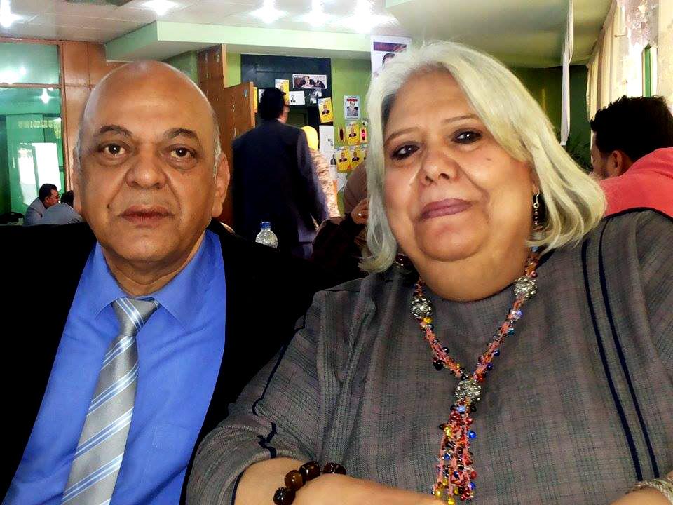 الميرغنى وزوجته خيرية شعلان