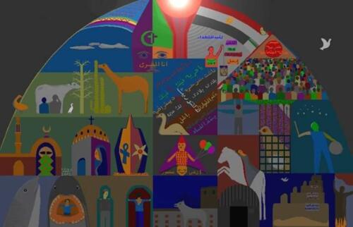 جرافيك للميرغنى 2003 تنبأ فيه بإنطلاق ثورة 25 يناير