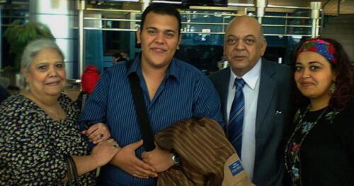 الميرغنى وزوجته خيرية شعلان وإبنته الإعلامية سوسنة وإبنه المهندس الزراعى حاتم