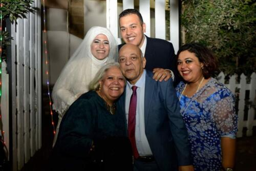 الميرغنى وزوجته وإبنته سوسنة فى زفاف إبنه حاتم