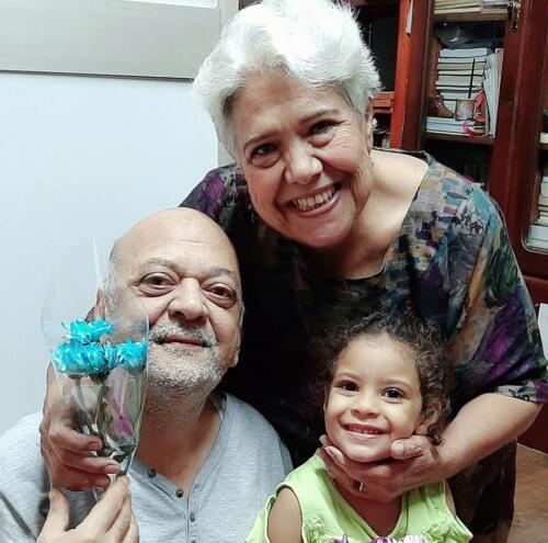 الميرغنى وزوجته والحفيدة فرحة خزعل
